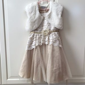 gold sparkly dress